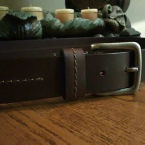 Men's size 40 Wide Top Grain Leather Belt; New